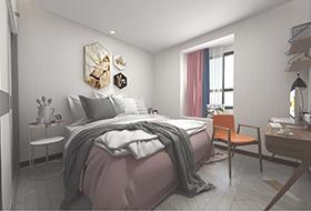 白金色橡木方形拼花带玻璃