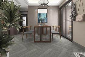 白金色橡木鱼骨拼花,进口地板,环保地板