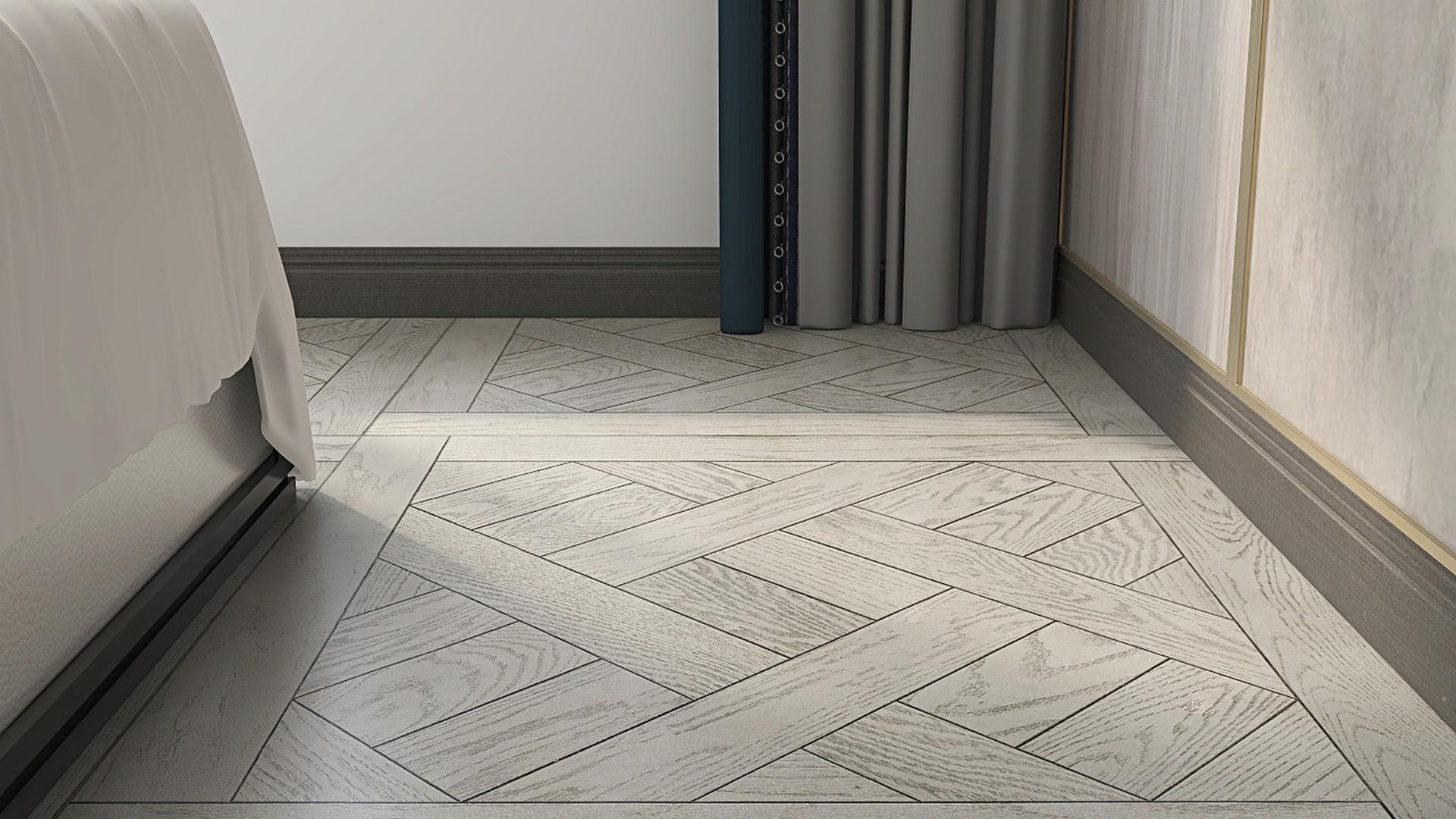 意大利GARBELOTTO实木复合地板,白金色方形拼花