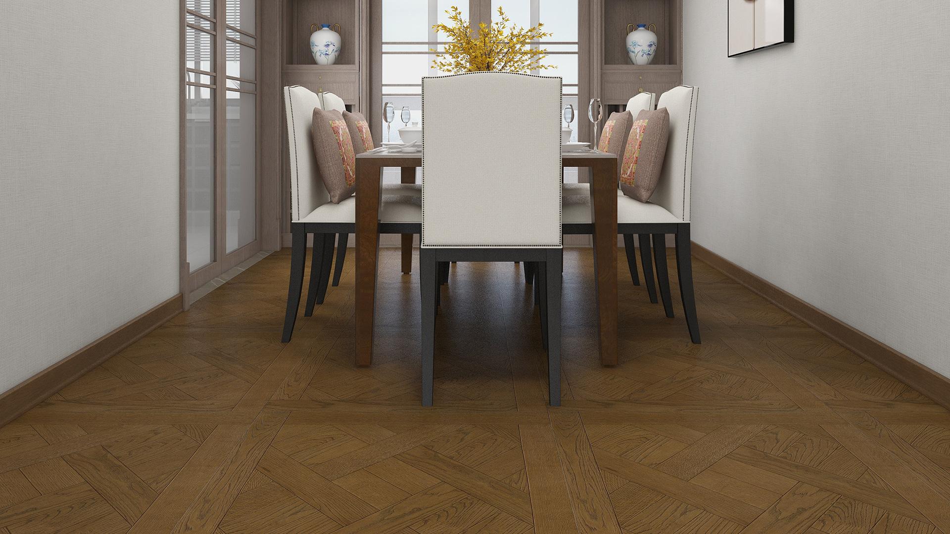 意大利GARBELOTTO实木复合地板,古典橡木方形拼花