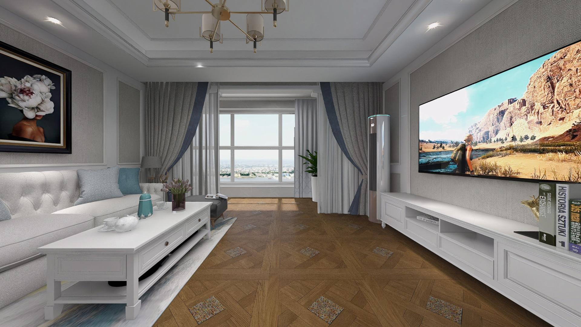 意大利GARBELOTTO实木复合地板,古典橡木方形拼花带玻璃