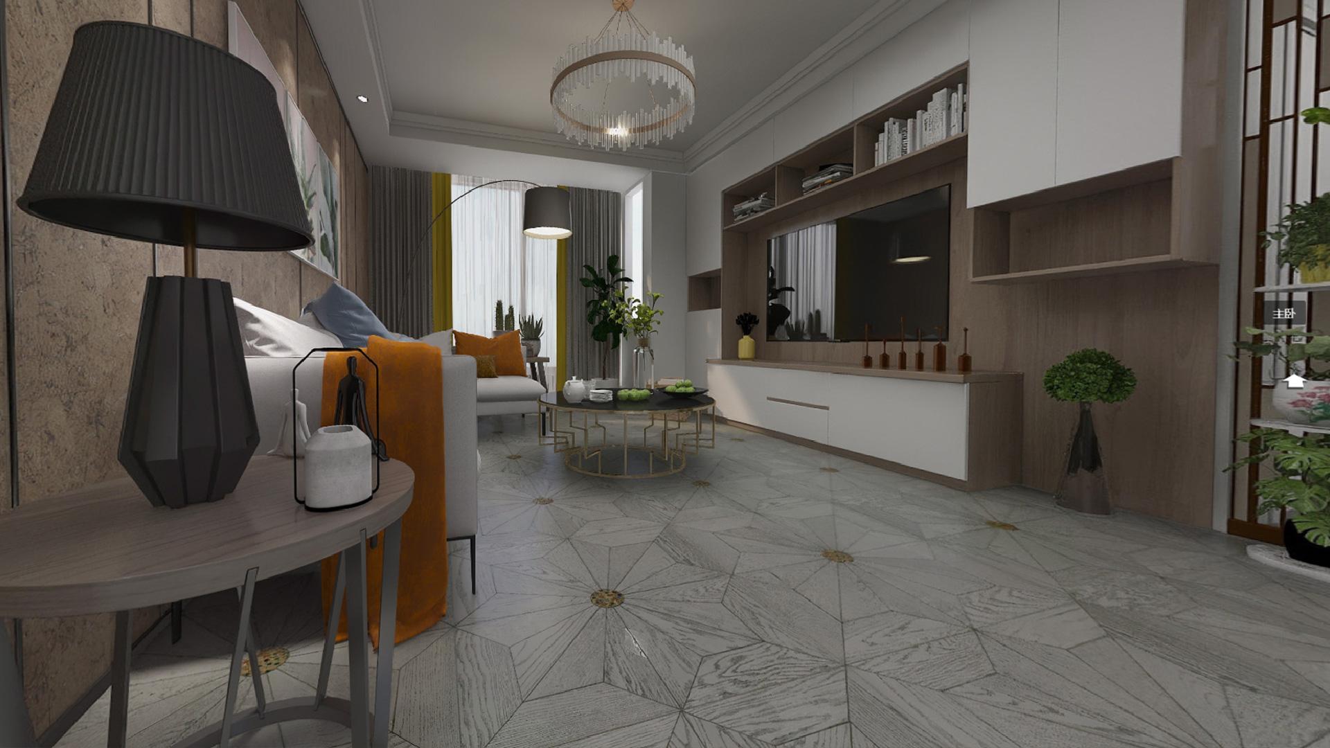 意大利GARBELOTTO实木复合地板,白金色罗马方拼(圆形玻璃)