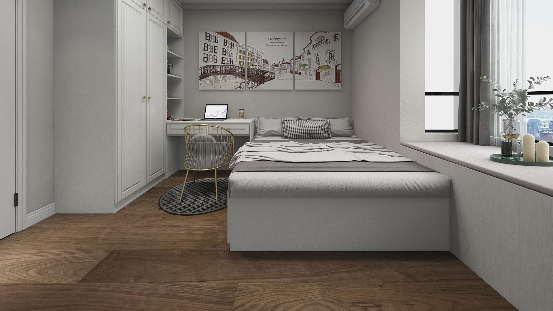 意大利GARBELOTTO实木复合地板,单拼美国胡桃木