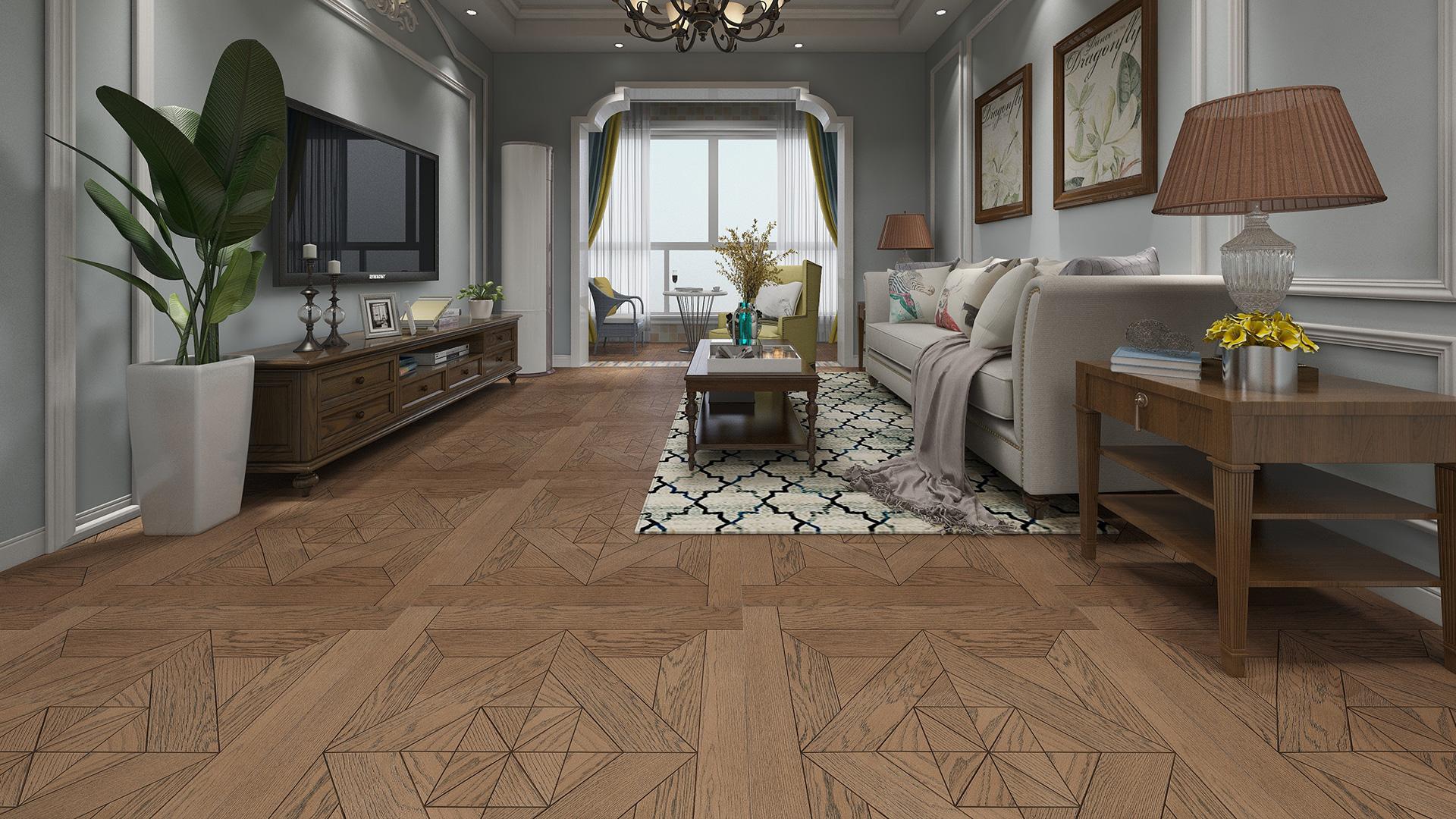 意大利GARBELOTTO实木复合地板,玫瑰金色橡木澳式方拼