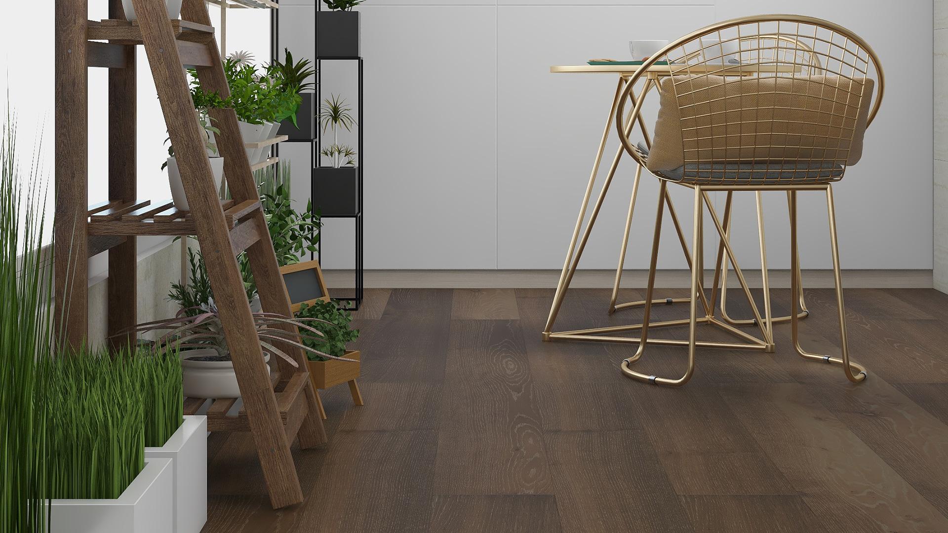瑞典KAHRS实木复合地板,单拼灰色橡木
