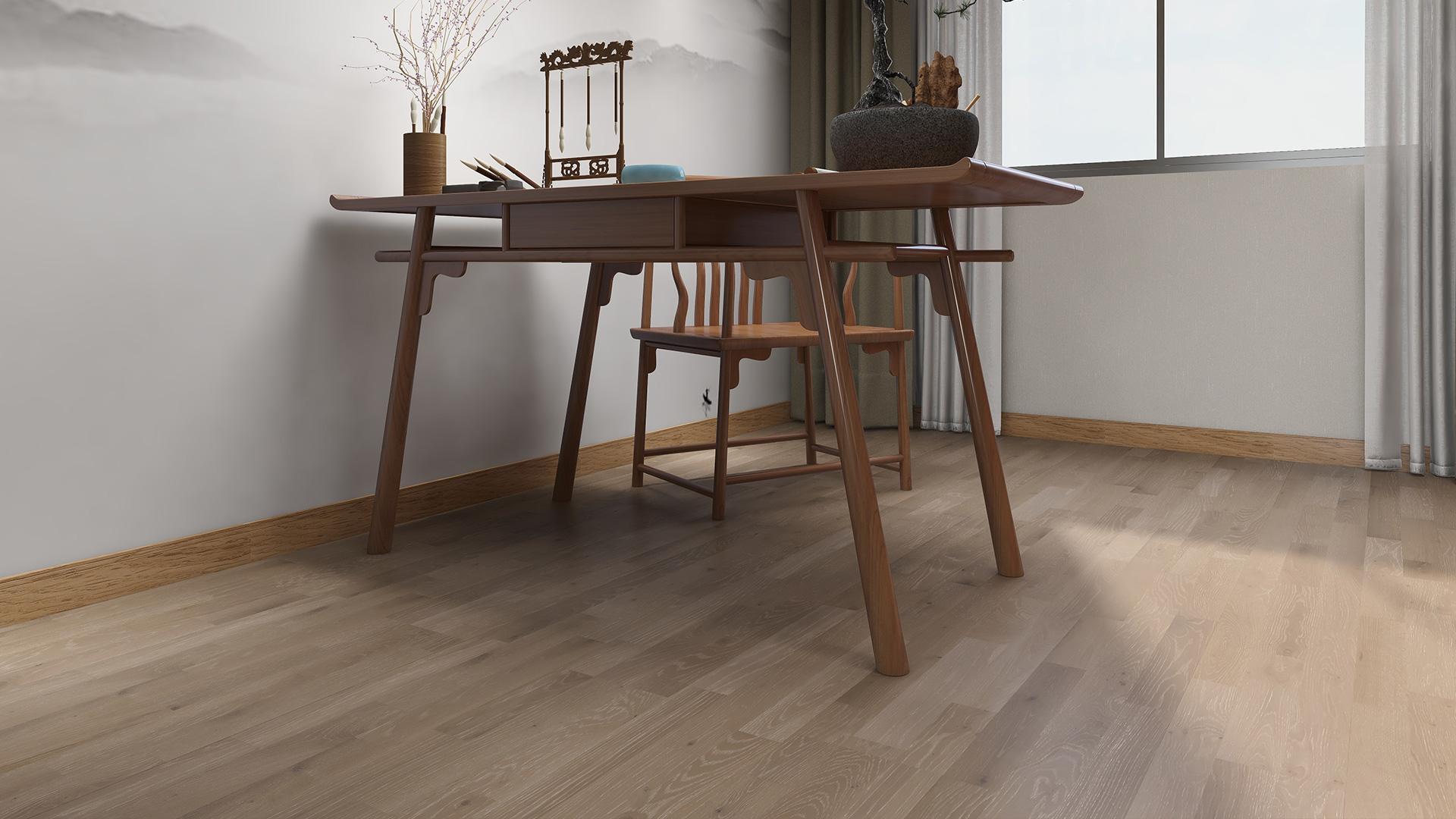 芬兰KARELIA三层实木地板,三拼英安岩灰色橡木