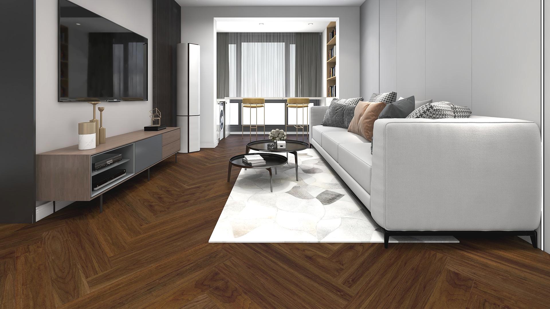 比利时PAR-KY高科技实木复合地板,胡桃木拼花
