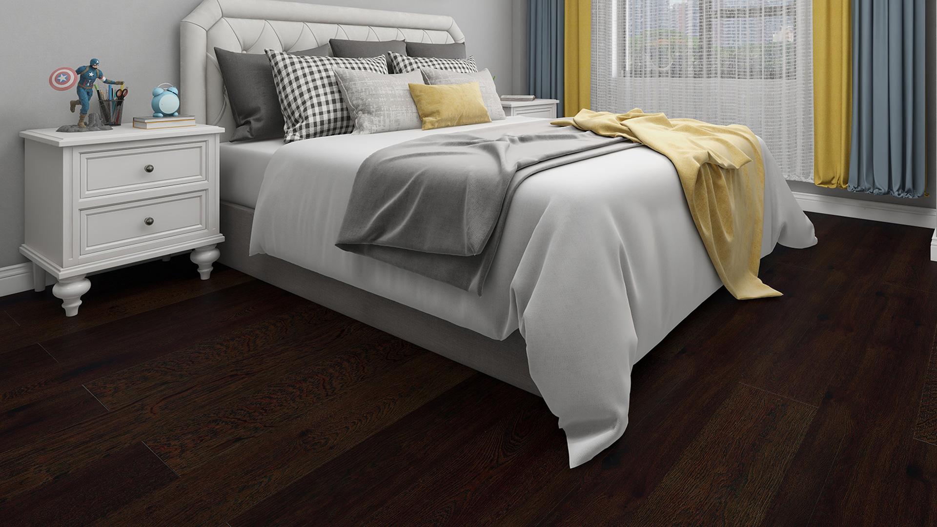 瑞典KAHRS实木复合地板,单拼褐色橡木