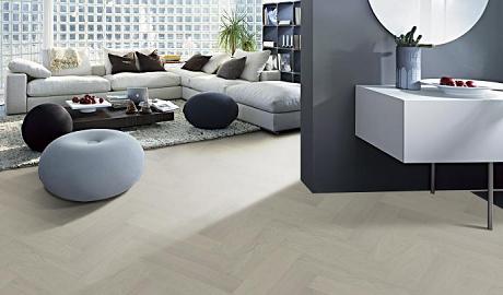 得高尊贵系列Quick-Step三层实木人字拼花地板 简约外衣下的卓越匠心